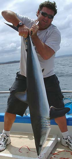 Bloke with Mako shark