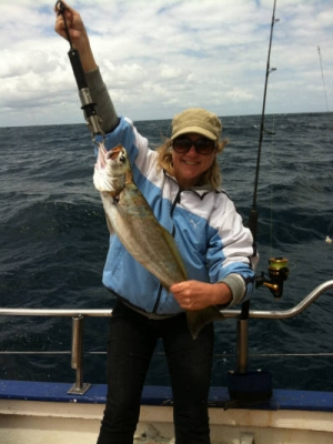 Woman with Mulloway